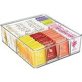 mDesign Boite de Rangement empilable – Panier de Rangement en Plastique à 8 Compartiments pour la Cuisine –Rangement de Cuisi