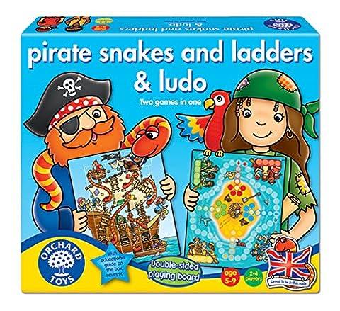 Orchard Toys - Jeux de Société - Les serpents et les Échelles Et Ludo - Langue: anglais