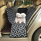 Rainbowsun Hunde Autoschondecke mit Seitenschutz für die Rücksitze Robust Wasserdicht 150*130*55cm Pfotenmuster