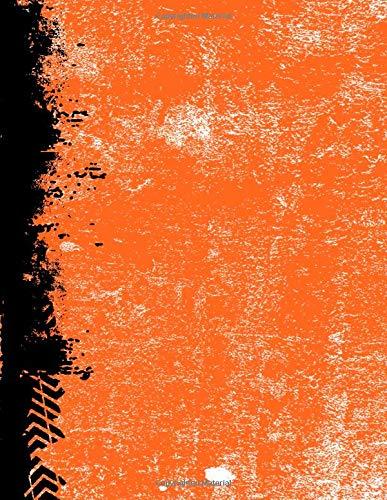 Orange And Black: (8.5x11 Dot Grid) Blank Journal Grunge School Color Notebook por Belle Journals