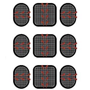 TENDUAGEN VEYESE Gel-Pads, quecksilbertropfelektroden Gel-Pads für alle, die die Bauchmuskel-Gürtel, 3Sets (9-Gel Pads)
