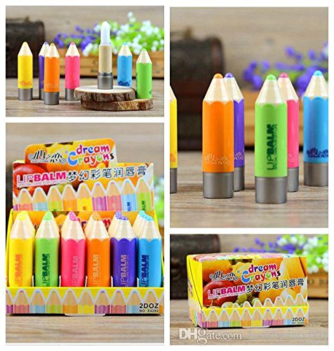 Homeoculture 6pcs Fruit Nature Organic Lip Balm Makeup Dream Crayons Lip Balm Special Care For Dry Lips Moisturizing