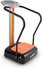 Klarfit Goodvibe • Vibrationsplatte • Vibrationstrainer • Fitnessgerät • 100 Geschwindigkeitsstufen • Pulsmesser • Trainingscomputer • LED-Display • Bodenrollen • platzsparend • orange oder schwarz