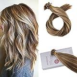 Moresoo Extensiones de Cabello Natural Queratina Pelo 100% Remy U/Nail-Tip Hair Extensions...