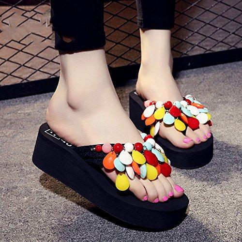 Estate Sandali Pantofole in rilievo fatti a mano Pantofole spesse Sandali di pattini con 8 colori Colore / formato facoltativo #4