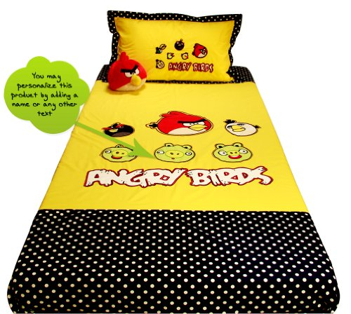 Little Kittens Little Kittens Angry Birds Bed Spread Single Bed