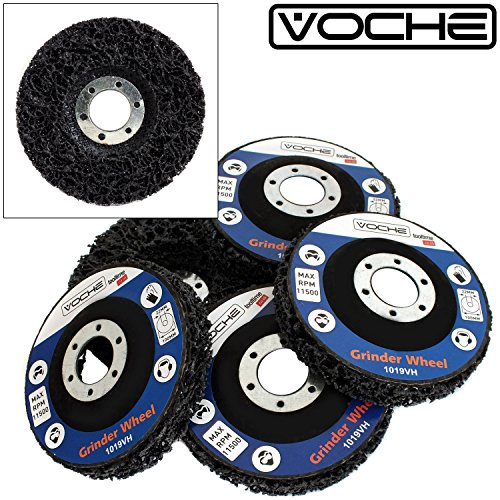 pack-of-5-vocher-polycarbide-abrasive-paint-rust-remover-disc-wheels-for-115mm-4-1-2-angle-grinders