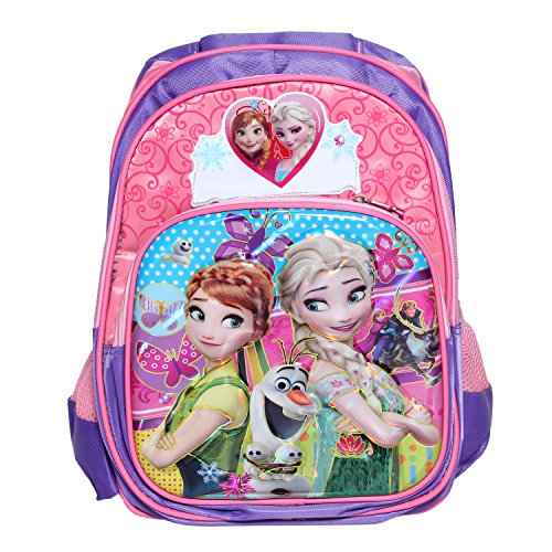 Modacubo Emboss Princess Cartoon Theme Printed Nylon School Bag – Pink