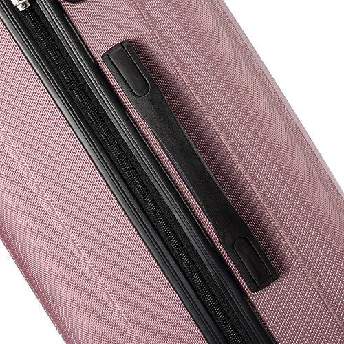 2045 Hartschale Koffer Trolley Reisekoffer einzelgröße XL-L-M in 10 Farben (M, Pink) - 3