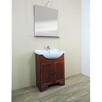 Mobile bagno a terra classico Savini Larisa, misura cm 65, lavabo e ...