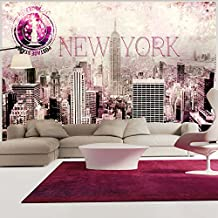 Papier peint new york chambre for Chambre fille new york