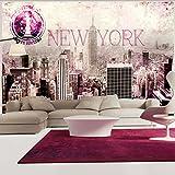 murando – Papier peint intissé 350x256 cm – Trompe l oeil - Tableaux muraux – Déco – XXL New York Ville 10110904-58