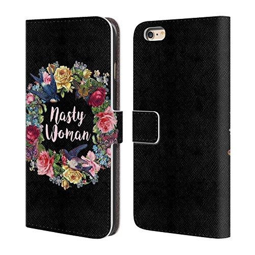 Offizielle Brigid Ashwood Kunstvolle Om Bohemhafte Stimmung Brieftasche Handyhülle aus Leder für Apple iPhone 6 / 6s Freche Frau
