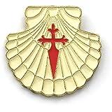 Pin concha de vieira con la Cruz de Santiago