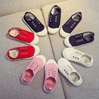 HUHU833 Kids Shoes, Toddler Baby Boys Girls Solid Cute Sneaker Canvas Shoes