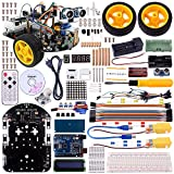 Kuman Upgraded SM2 Pro Robot Car Kit for Arduino, 2 Wheel Utility Vehicle Intelligent Robotics arduino DS robot Smart Car kit Obstacle avoidance,tracking