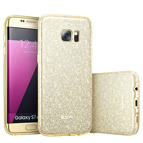 Samsung Galaxy S7 Edge Bling Bling Custodia Brillantini/Glitters in Silicone, ESR Cover Brillante Lucciante Luminosa Ultra Sottile [Elastica e Morbida] per Samaung Galaxy S7 Edge.