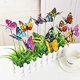 HAKACC farfalla, 50PCS 9cm Garden Butterfly ornamenti, decorazioni farfalla impermeabile per indoor/outdoor yard, patio vaso per fiori, letto, decorazione domestica