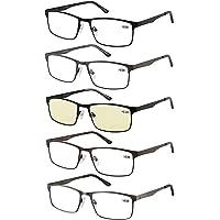 Amcedar 5-pack occhiali da lettura Uomo Cornice Rettangolare Stile Acciaio Inossidabile Materiale Metallo Primavera…