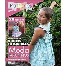 "Revista patrones de costura infantil, nº 1. Moda Primavera-verano, 28 modelos de patrones, "" niña, niño, bebé"" Cutting instructions."
