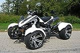 Speedstar 300cc Automatik Quad weiß - mit Straßenzulassung für 2 Personen CVT Automatik mit Rückwärtsgang TIEF - FETT - BREIT
