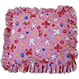 New Born Baby Mustard Seeds Rai Pillow For Baby Head Shaping Teddy Print Children'S Neck Support Pillow, Soft And Plush Cotton Baby Pillow For Easy Washing Feeding & Nursing Baby Neck Pillow (0 To 12 Month's)