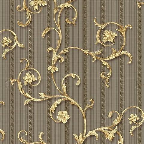 Vinyltapete Tapete Barock Retro # braun/beige # Fujia Decoration # 85527