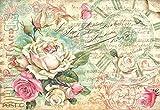 Stamperia Motiv-Strohseide Antique Rose