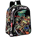 Turtles Sharp - Mochila infantil, color verde y negro (Montichelvo...