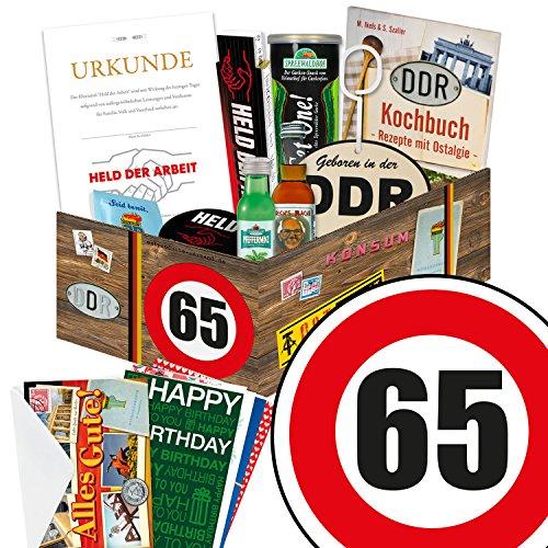 65. Geburtstag Männer Geschenk - MÄNNER Box mit DDR Waren + Geschenkverpackung