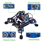 SunFounder Rollflash Bionic Robot Turtle with APP Control for Arduino Nano HC-SR04 Ultrasonic IR Infrared Obstacle Avoidance Sensor Bluetooth