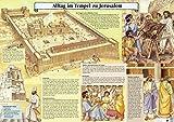 Alltag im Tempel zu Jerusalem: Plakat bebildert von Christine Egger - Walter Bühlmann