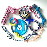 Wiiguda@Cordón de juguete para perros 10pcs, juguete para perros, juguete masticable multicolor para interiores y exteriores.