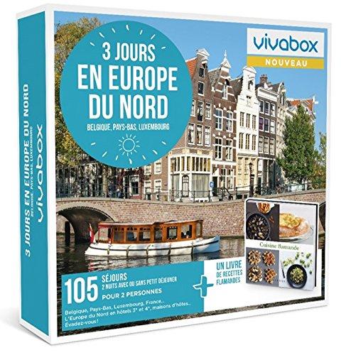 Vivabox - Coffret cadeau couple - 3 JOURS EN EUROPE DU NORD - 105 séjours + 1 livre...