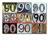 DigitalOase Glückwunschkarte 90. Geburtstag Jubiläumskarte 90. Jubiläum Geburtstagskarte Grußkarte Format DIN A4 A3 Klappkarte PanoramaUmschlag