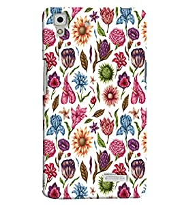 Blue Throat Flower Pattern On White Hard Plastic Printed Back Cover/Case For Oppo R7