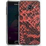 Samsung Galaxy A3 (2016) Housse Étui Protection Coque Peau de serpent Look Serpent