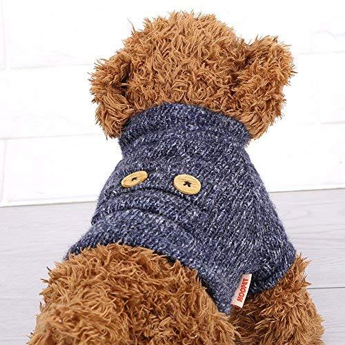 d Kleidung, Haustier Hund warme weiche Plüsch Kleidung Welpen Winter Pullover Bekleidung Jacke Mantel Kostüm(M) ()