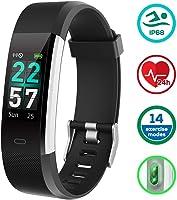 KUNGIX Orologio Fitness Tracker Smartwatch Android iOS Uomo Donna Cardiofrequenzimetro da Polso Contapassi Smart Watch...