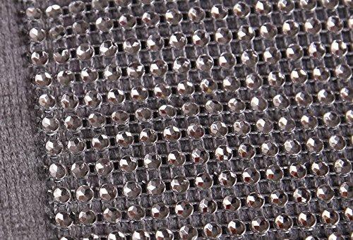 DegGod Luxus Samt stilvolle atmosphäre minimalistischen modernen Diamanten Tischläufer / Tischdecke Couchtisch Tuch und zwei Quasten (32 x 185 cm) (Silber) - 5