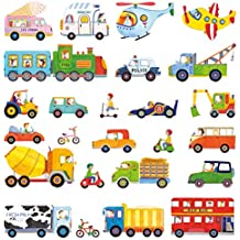 Decowall DW-1405los transportes Peel y Stick guardería infantil pared pegatinas adhesivos