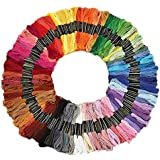 K G group Cotton Cross/Long Stitched Embroidery Threads -Set of 100 Pieces (Multicolor)