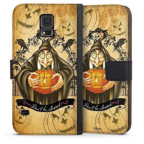 Samsung Galaxy S5 Tasche Hülle Flip Case Disney Schneewittchen Hexe Geschenke (Hexe In Schneewittchen)
