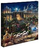 Thomas Kinkade Cinderella Uhr Mitternacht schlägt 14x 14Galerie verpackt Leinwand