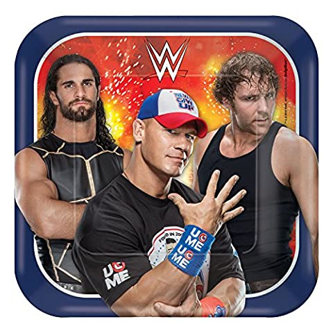 Amscan International 540007 18 cm WWE Paper Plates