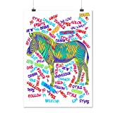 Zebra Animal Zoo Fashion Creativity Matte/Glossy Poster A3 (42cm x 30cm) | Wellcoda