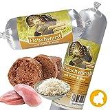 Schecker Dogreform 1 x 200g Fleischwurst mit viel magerem Putenfleisch und Reis sensitive völlig frei von Soja-/Kunstfleischprodukten