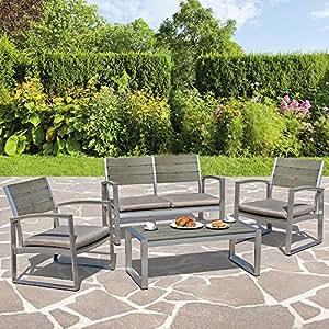 Set salotto completo in alluminio otis bizzotto giardino for Arredamento giardino usato