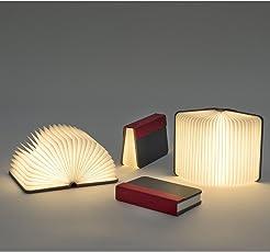 GrabClassy Mini Folding Book Lamp India - Single Light - Black