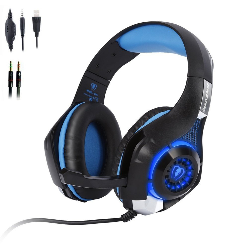 Gaming Headset LESHP 35mm Stereo Surround Sound Over Ear Headphone With